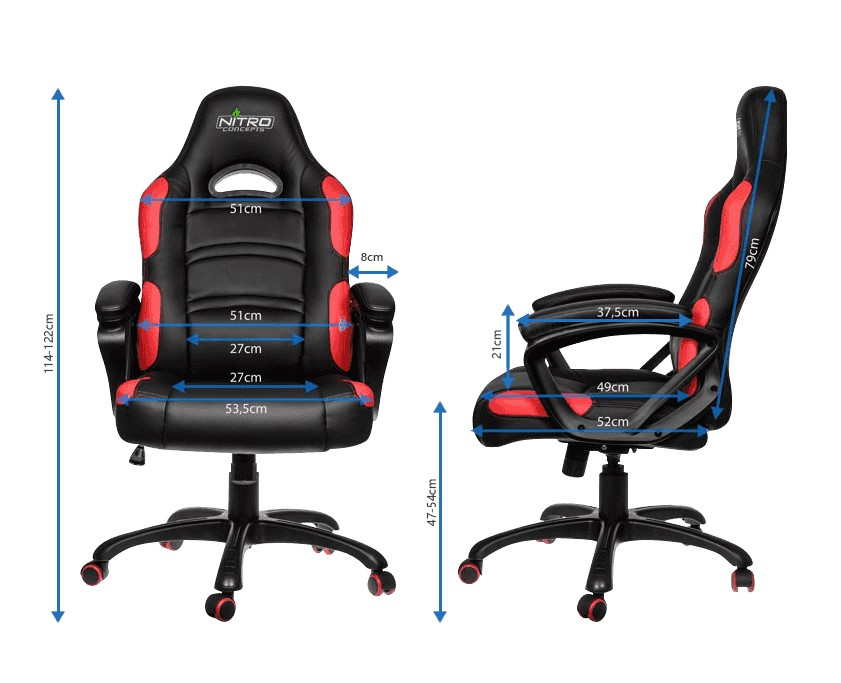 Gamemax Gcr07 Red Gaming Chair 80mm Class4 Gas Lift With