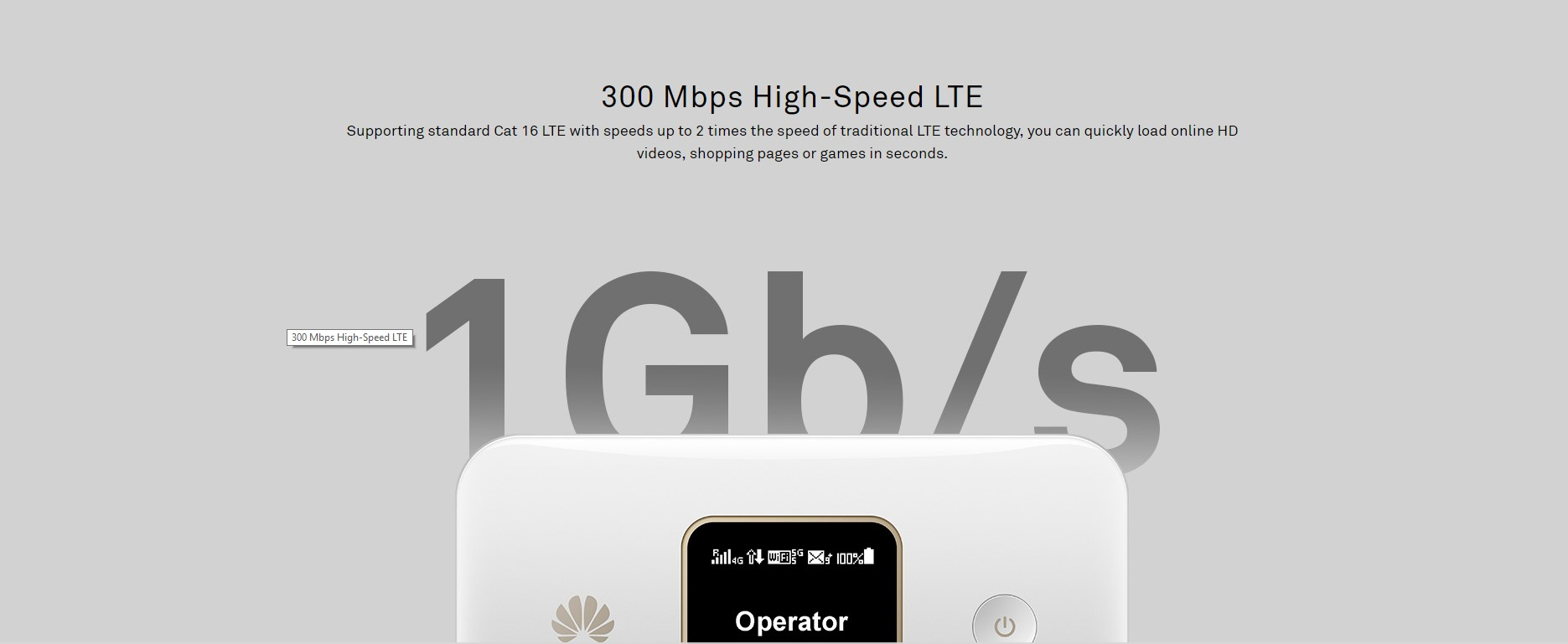 Huawei E5785 300 Mbps 4G LTE 43 2 Mpbs 3G Mobile WiFi, 3G globally, 16  Simultaneous Connection, 12