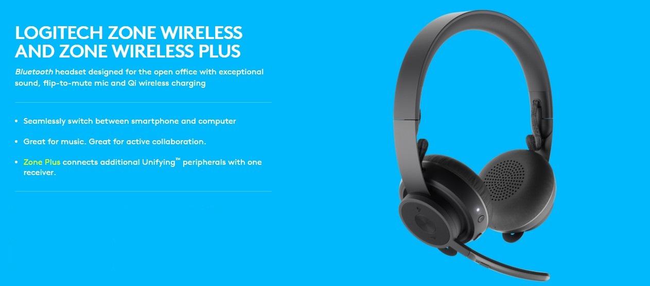 Logitech Zone Wireless Bluetooth Headset Graphite Omni Directional Dual Mems Mic Array Lithium Ion Qi Wireless 981 000798 Buy Best Price In Uae Dubai Abu Dhabi Sharjah