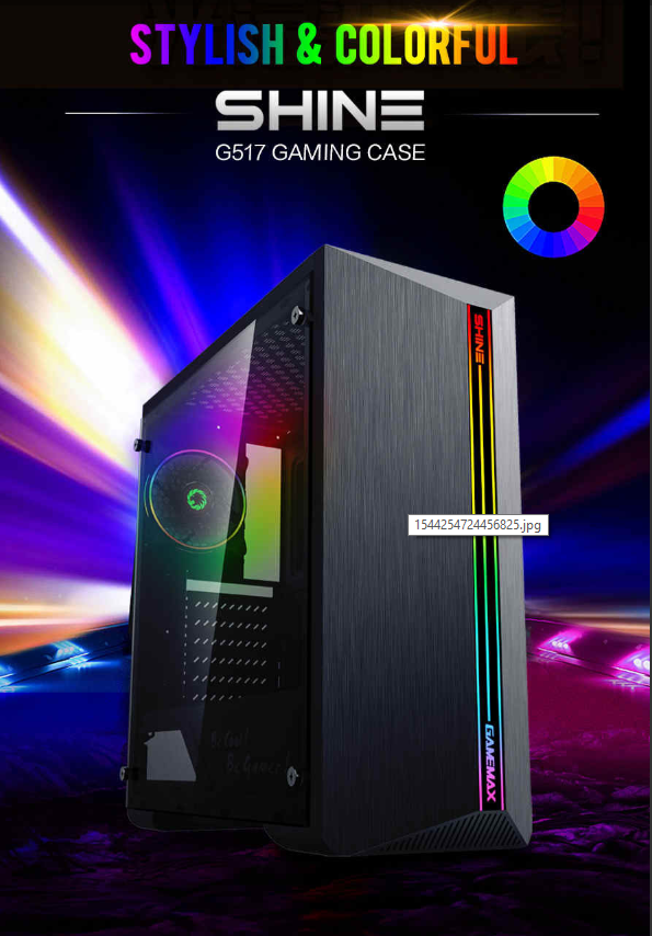 Gamemax Case Atx G517 Shine 0 5mm Spcc 3 Usb3 0 2 0 1