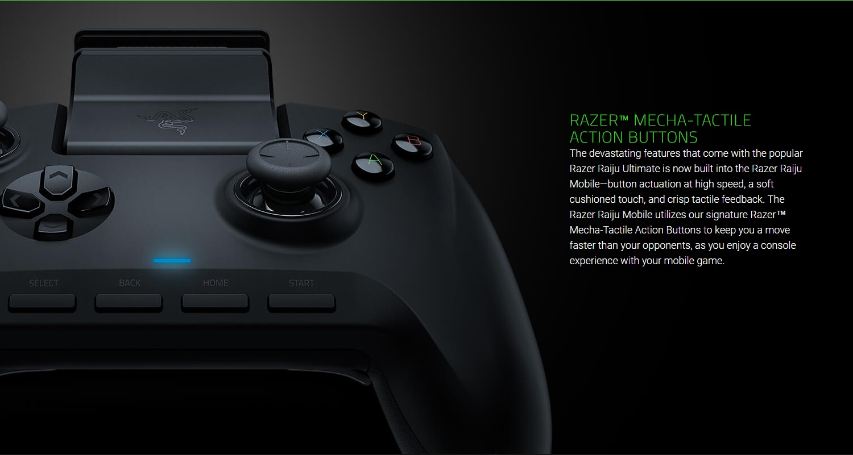 Razer Raiju Mobile Gaming Controller For Android (Ergonomic Multi-Function  Button Layout, Hair Trigger Mode, Adjustable Phone Mount) – Black |