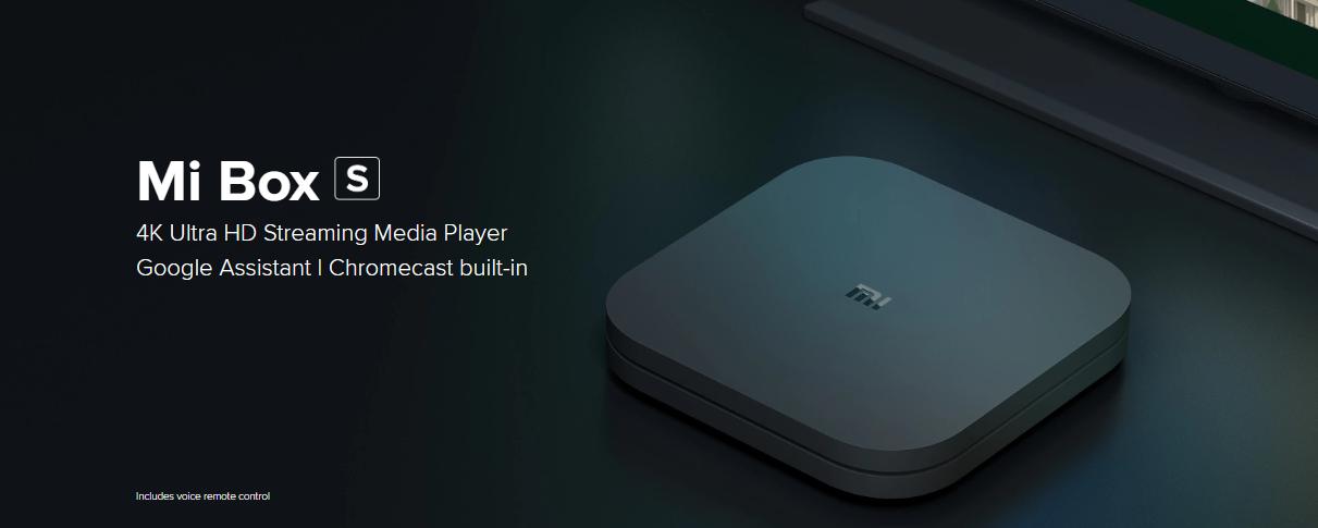 Xiaomi 4K Ultra HD Set Up Box Black, Android TV 6 0, HDR MiBox S