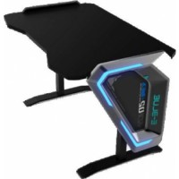 E-Blue Gaming Desk, 1.25 Metres Length, Single Height Adjustable, RGB Glowing Light Effect | EGT002