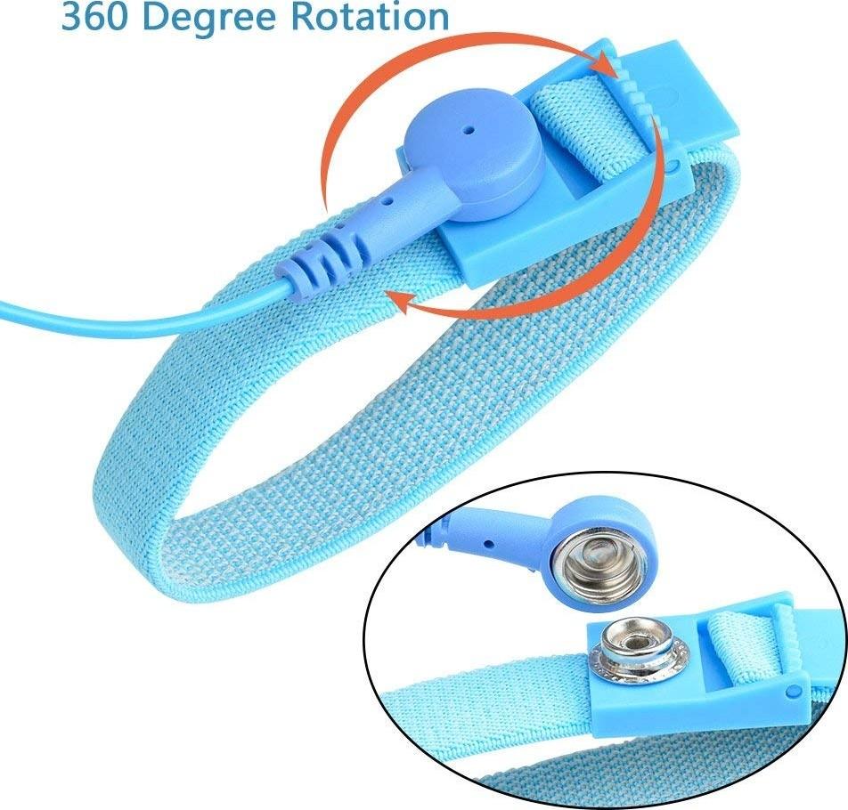 Eco G Fused - 1.8M Anti-Static Wrist Straps ATPWONZ 3 Pack ...