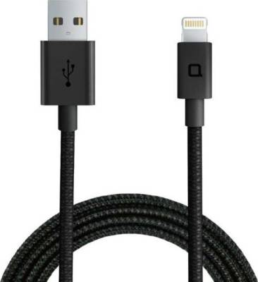nonda ZUS [Apple MFi Certified] Super Duty Lightning Cable, [4ft/1.2m, 180-degree] Reinforced with Highly Durable Aramid Fiber, charger and Data Sync for iPhone, iPad, iPod, Black   LC33BKRN