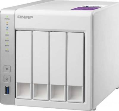 Qnap TS-431P-US 4-bay Personal Cloud NAS, ARM Cortex A15 1.7GHzDual Core, 1GB RAM