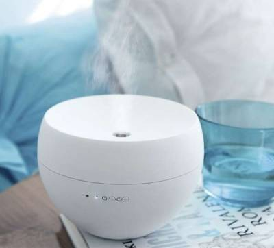 Stadler Form Jasmine Ultrasonic Aroma Oil Diffuser Compact and Soft-rubber Coated - White | J-001