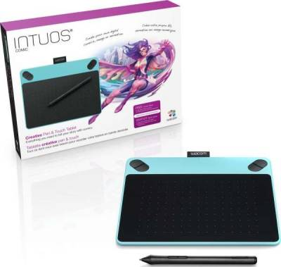 Wacom Intuos Comic Pen and Touch Anime & Manga Digital Small Drawing Tablet | CTH-490CB-N