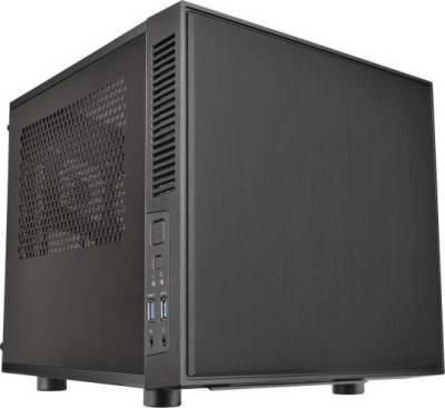 Thermaltake SUPPRESSOR F1 Mini ITX Cube Chassis Liquid Cooling Computer Case | CA-1E6-00S1WN-00