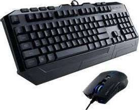 Cooler Master Devastator II Light weight, Gaming Keyboard and Gaming Mouse, Gaming Gear Bundle Black with Blue LED | SGB-3030-KKMF1-US