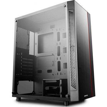 DeepCool MATREXX 55 Minimalism Dual Tempered Glass and RGB Lighting System ATX-Mid Tower Computer Case - Black   DP-ATX-MATREXX55