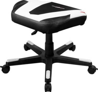 DXRacer DFR/FX0/NW Newedge Edition Adjustable Storage Ottoman Footstool Chair Gaming Seat Pouf Furniture (Black/White) | FR/FX0/NW