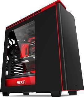 NZXT H440 Plus-W ATX Mid Tower Case - MATTE BLACK/RED | CA-H442W-M1