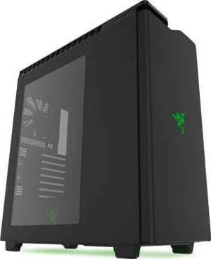 NZXT H440 Razer No Power Supply ATX Mid Tower (Glossy/Matte Black) | CA-H442W-RA