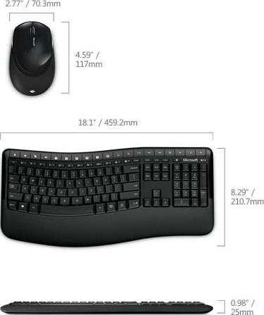microsoft wireless comfort desktop 5000 manual