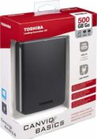 Toshiba 500GB HDTB305EK3AA Canvio Basics USB 3.0 2.5 Inch Ext HDD - Black