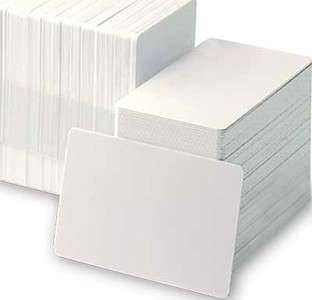 Zebra PVC, White Cards, 500 cards - 30 mil, 0,76mm - without magnetic stripe