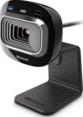 Microsoft LifeCam HD-3000 720p HD Webcam - Black | T3H-00013