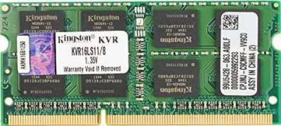 Kingston Technology 8GB 1 X 8GB 1600MHz DDR3 PC3 12800 1.35V Non-ECC CL11 SODIMM  Laptop Ram | KVR16LS11/8