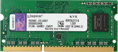 KINGSTON 4GB DDR3 1600 MHz 1.35V CL11 SODIMM | KVR16LS11/4