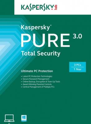 Kaspersky Pure 3.0 Total Security 3 Users, 1 Year