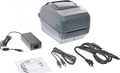 Zebra GK420t Monochrome Desktop Direct Thermal Transfer Label Printer, 5 in/s Print Speed, 203 dpi Print Resolution, 4.09 inch Print Width, 100-240V AC