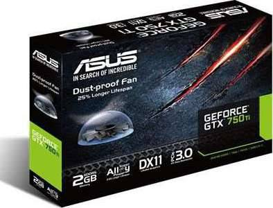 Asus Nvidia GeForce GTX 750Ti 2GB GDDR5 Graphics Card (PCI Express 3.0, 2x DVI-D, VGA, HDMI, 128 Bit, Dust-Proof Fan, Super Alloy Power)