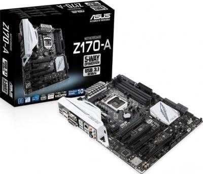 ASUS Z170-A LGA 1151 Intel Z170 HDMI SATA 6Gb/s USB 3.1 USB 3.0 ATX Intel Motherboard | 90MB0LS0-M0EAY0