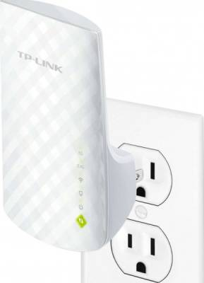 TP-LINK AC750 Universal Wireless Dual Band Range Extender, Wi-Fi Repeater, Wall Plug, Plug and Play, Ethernet Port, Smart Signal Indicator Light | RE200
