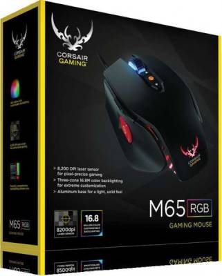 Corsair Gaming M65 RGB Laser Gaming Mouse — Black | CH-9000109-AP
