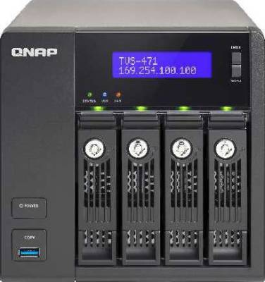 QNAP TVS-471-i3-4G 4 Bay NAS, Intel Core i3-4150 3.5 GHz Dual Core, 4GB | TVS-471-i3-4G