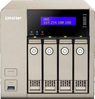 QNAP TVS-463-8G 4 Bay NAS, AMD 2.4 GHz Quad Core, 8GB | TVS-463-8G