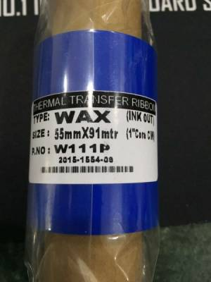 Wax Thermal Transfer Ribbon for Label Printer (64mm x 74 mtr)