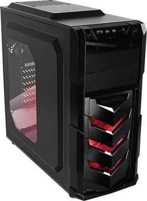 Raidmax Vortex V4 SERIES ATX Computer Case Black/Red | 404WR