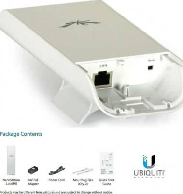 Ubiquiti Networks LOCOM5 - Nanostation FREQUENCY 5GHz  150+Mbps RANGE 10+Km MIMO AIRMAX | Loco M5