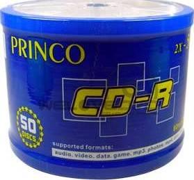 Princo Blank CD-R 80min/700MB (2x-56x) 50 PCS