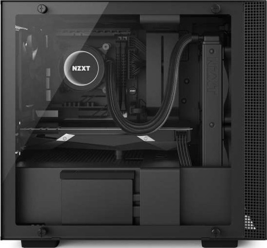 Nzxt H200i Mini Itx Computer Case Secc Steel And Tempered