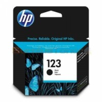 HP 123 Black Original Ink Cartridge  | F6V17AE