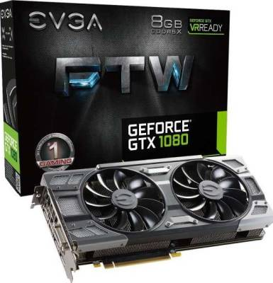 EVGA GeForce GTX 1080 FTW GAMING ACX 3.0, w/ Adjustable RGB LED Graphics Card | 08G-P4-6286-KR