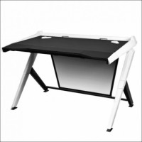 DXRacer Gaming Desk Black / White | GD/1000/NW