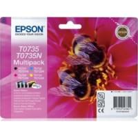Epson T0735 Ink Cartridge, Multi-Pack  BK CY MA YE (C13T10554A10)