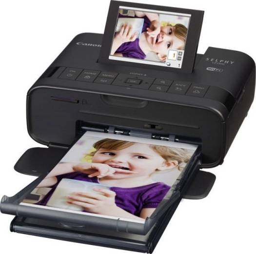 Canon SELPHY CP1300 Wireless Compact Photo Printer with AirPrint and Mopria Device Printing, Black   2234C001