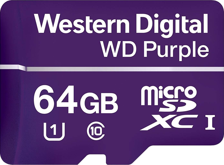 Western Digital Wd Purple 64gb Surveillance Microsd Card Sandisk Micro Sd New 48 Mb S 16gb Ultra Uhs 1 Class 10 Sdsqunb Wdd064g1p0a