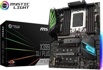 MSI X399 SLI PLUS sTR4 AMD X399 SATA 6Gb/s USB 3.1 ATX Motherboard | 911-7B09-009