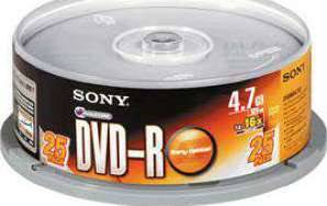 SONY 25 SPINDLE 16X DVD-R DISC