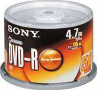 SONY 50 SPINDLE 16X DVD-R DISC