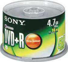 SONY 50 SPINDLE 16X DVD+R DISC
