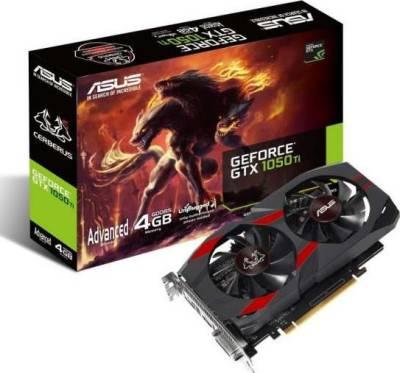 ASUS CERBERUS-GTX1050TI-A4G Cerberus GeForce GTX 1050 Ti Advanced Edition 4GB GDDR5 128-bit, PCI-e 3.0 Graphics Card | 90YV0A75-M0NA00