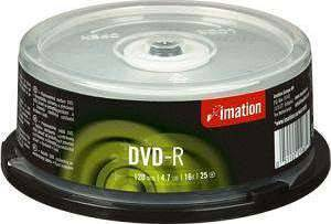 Imation DVD-R 4.7GB 16x, 25-pack Spindle