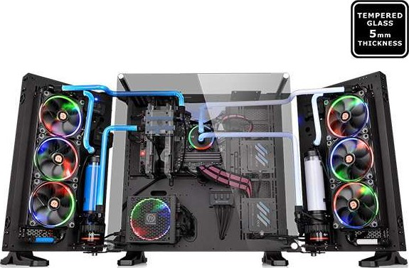 Thermaltake Core P7 Tg Full Tower Black Tempered Glass